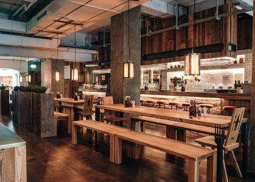 Innenausstattung Restaurant Heimwerk